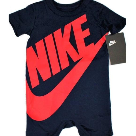 f63c97a01 Nike Futura Romper Baby Coverall Bodysuit Boys NWT